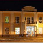 Фото Орши – городская библиотека вечером
