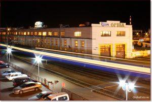 Фото Орши – депо на ЖД вокзале вечером