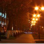 Фото Орши – фонари осенним вечером