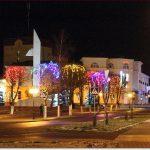 Фото Орши – сквер с вечерней подсветкой