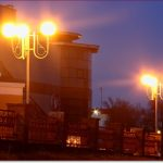 Фото Орши – фонари около Орша Сити, вечер