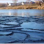 Фото Орши – первый лёд на Днепре, осень