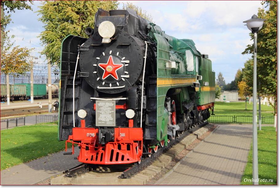 Фото Орши – тепловоз, локомотив на вокзале