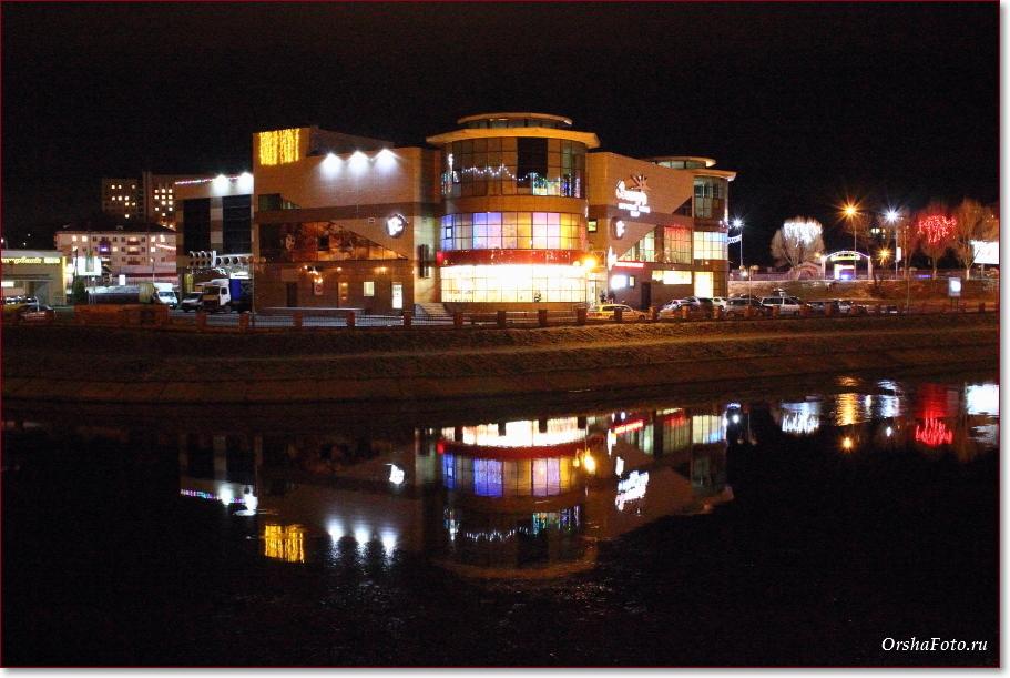Фото Орши – ТЦ Орша Сити вечером