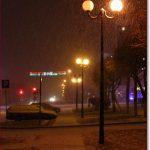 Фото Орши – фонари и снег на Островского