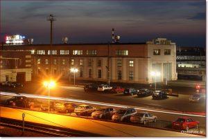Фото Орши вечером – ЖД депо на вокзале