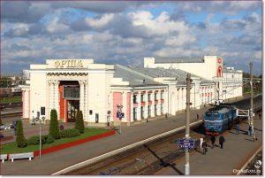 Фото Орши – ЖД вокзал днем, вид сверху