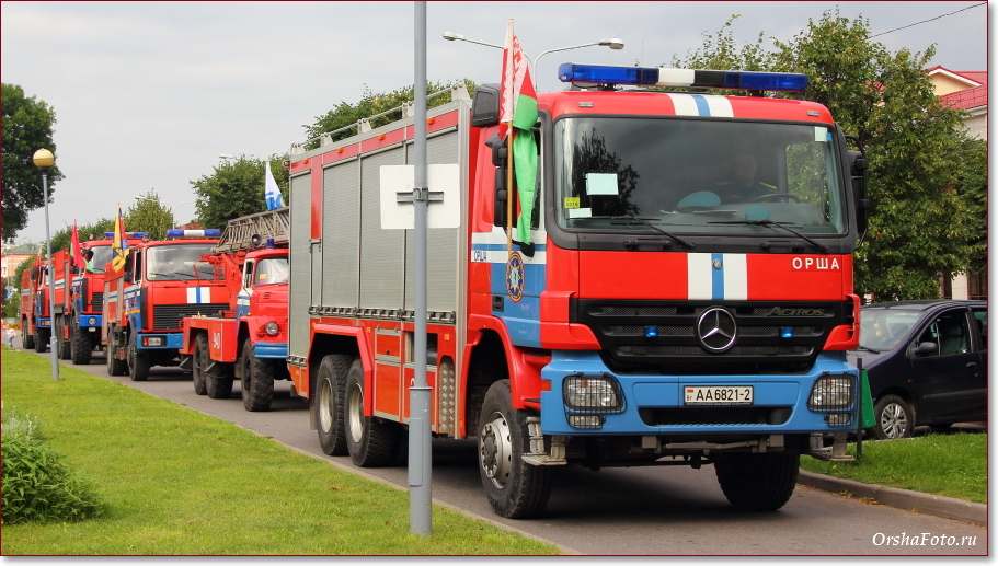 День пожарных в Орше - пожарные машины