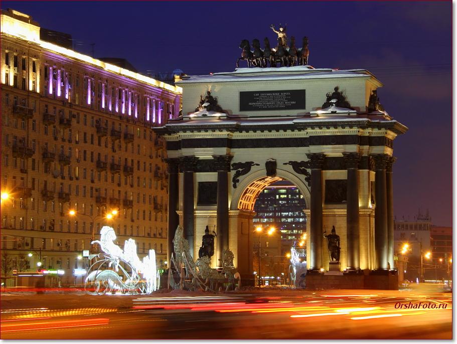 Триумфальная арка зимой